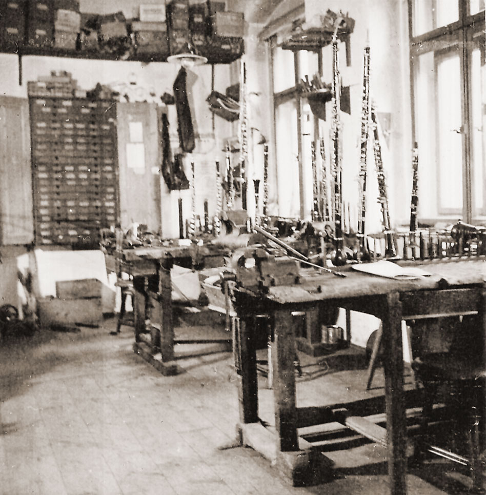 Workshop in Graslitz at the time of liquidation