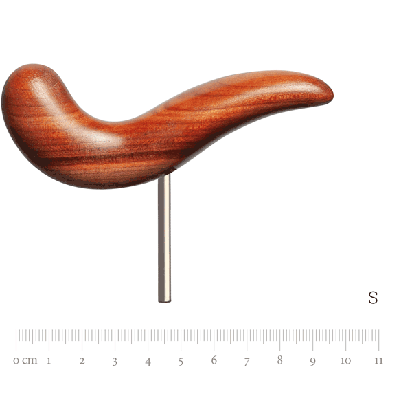 Handrest size XL with pin, plumtree wood, S