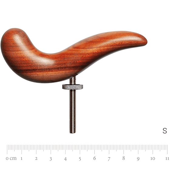 Handrest size XL with thread, plumtree wood, S